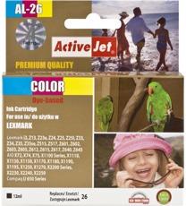 Inkoust ActiveJet AL-26   Color   12 ml   Refill   Lexmark 10N0026