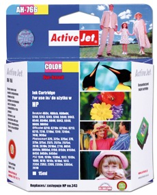 Inkoust ActiveJet AH-766 | Color | 21 ml | Refill | HP C8766EE