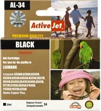 Inkoust ActiveJet AL-34 | Black | 25 ml | Refill | Lexmark 18C0034E
