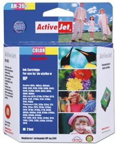 Inkoust ActiveJet AH-363 | Color | 21 ml | Refill | HP C9363EE