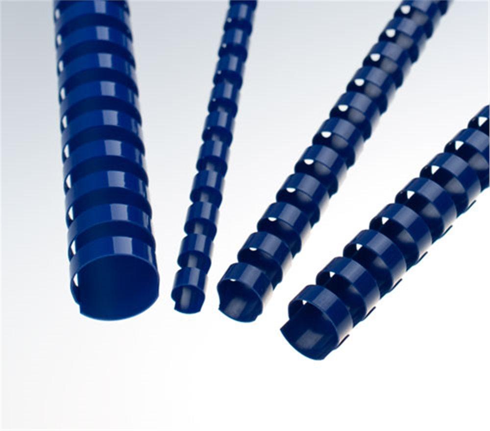Plastové hřbety 6 mm, modré