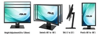 "20"" LED ASUS BE209QLB -VGA,DVI,DP,USB,repro 2Wx2"