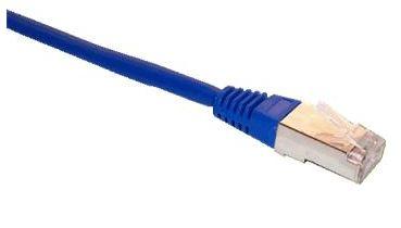 Patch cord FTP cat5e 0,25M modrý