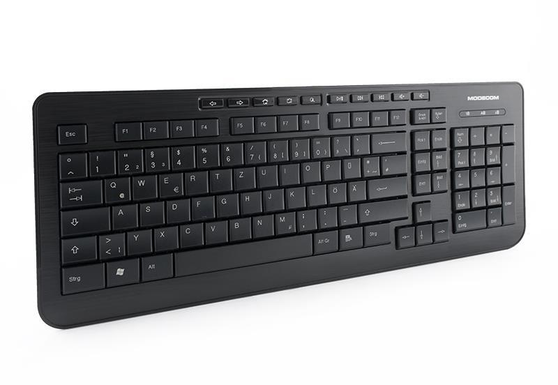 MODECOM klávesnice MC-5005 USB černá German Layout