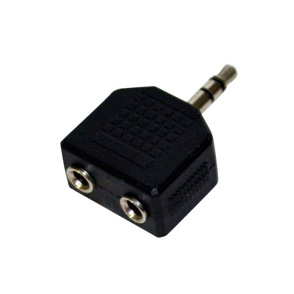 Vakoss Adapter audio minijack 3,5mm M -> 2x minijack 3,5mm F TC-A111K black