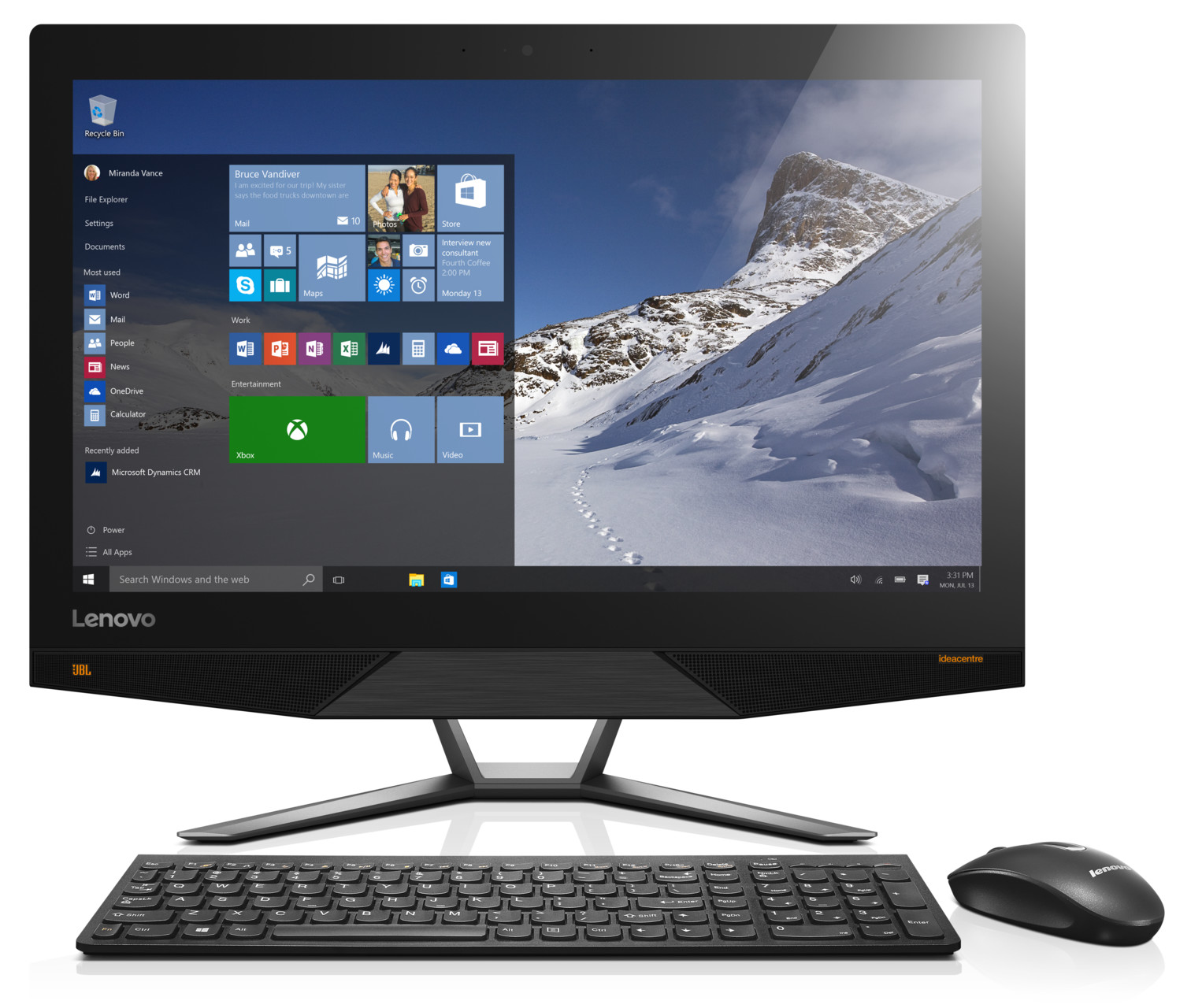 "Lenovo IdeaCentre AIO 700 i3-6100 3,70GHz/4GB/1TB/23,8"" FHD/IPS/multitouch/DVD-RW/WIN10 bílá F0BE0081CK"