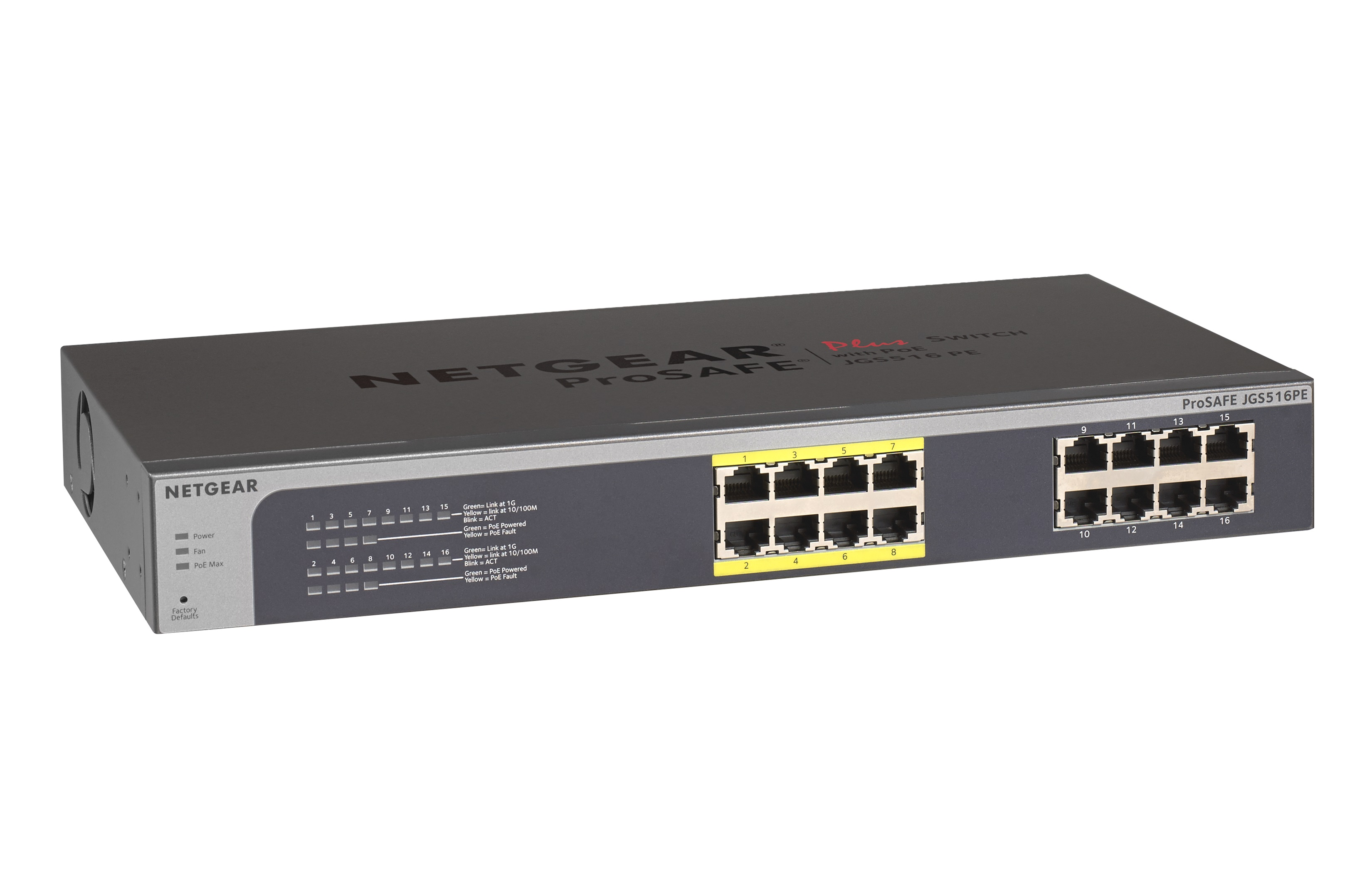 Netgear PLUS SWITCH 16xGbE with 8xPoE ports (Budget 85W) (management via WEB and PC utility)