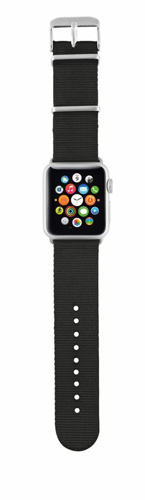 TRUST Nylonový náramek pro hodinky Apple Watch 42 mm, black