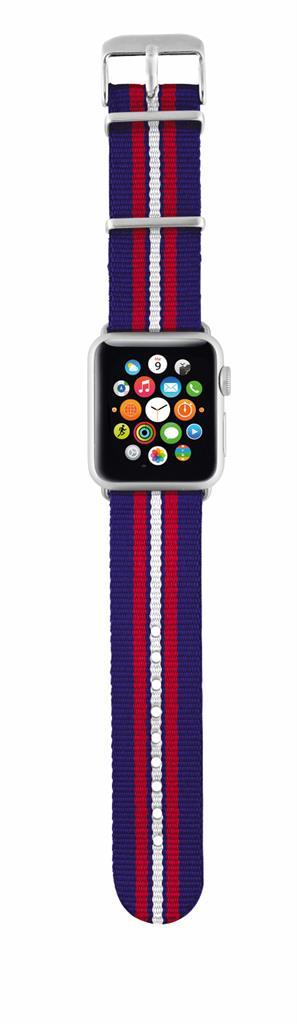 TRUST Nylonový náramek pro hodinky Apple Watch 42 mm, blue striped