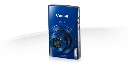 "Canon IXUS 180 BLUE - 20MP, 10x zoom, 24-240mm, 2,7"", HD video + pouzdro CANON"