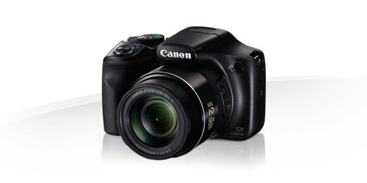 "Canon PowerShot SX540 HS, Black - 20MP, 50x zoom, 24-1200mm, 3""LCD"