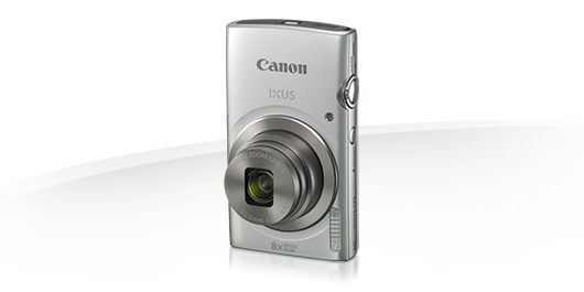 "Canon IXUS 175 SILVER - 20MP, 8x zoom, 28-224mm, 2,7"", HD video + pouzdro CANON"