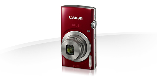 "Canon IXUS 175 RED - 20MP, 8x zoom, 28-224mm, 2,7"", HD video + pouzdro CANON"