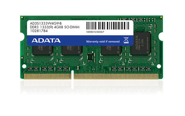 SO-DIMM 4GB DDR3 1333MHz C9 ADATA retail SR