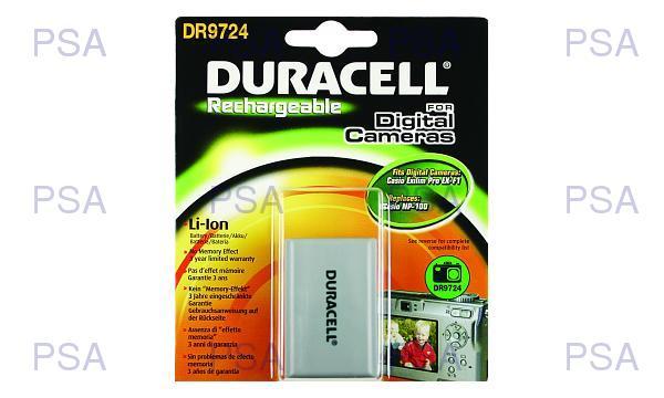 DURACELL Baterie - pro fotoaparáty nahrazuje Casio NP-100 7.4v 1700mAh