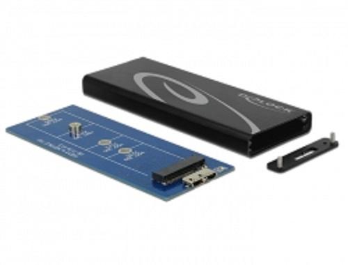 Delock externí pouzdro M.2 NGFF SSD > USB 3.1