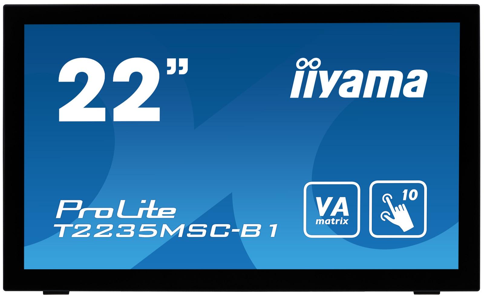 """22"""" LCD iiyama T2235MSC-B1 -VA,6ms,3000:1,repro"""