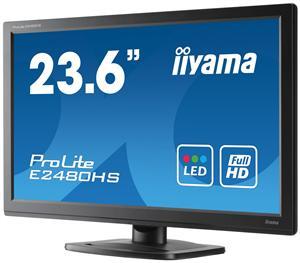 Iiyama LCD E2480HS-B2 23,6'' LED, 2ms, DC12mil, VGA/DVI/HDMI, repro, 1920x1080,č