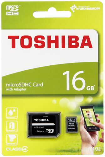 Toshiba microSDHC Class 4 16GB High Speed Standard