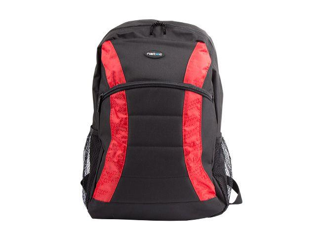 Natec notebook backpack YAK black-red 17,3''