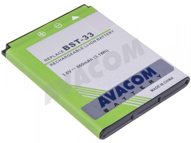 Náhradní baterie AVACOM Baterie do mobilu SonyEricsson K800i, W900i Li-Ion 3,7V 860mAh (náhrada BST-33)