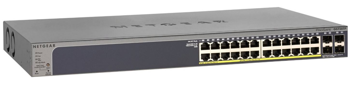 Netgear ProSafe Smart 28-Port PoE+ Gigabit Switch (GS728TPP)