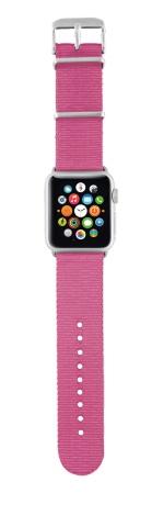TRUST Nylonový náramek pro hodinky Apple Watch 42 mm, pink