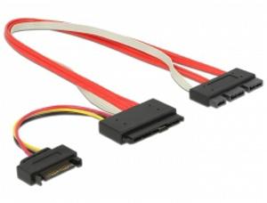 Delock kabel SATA Express 18 pin samec + SATA Power > SATA Express 29 pin samec 30 cm