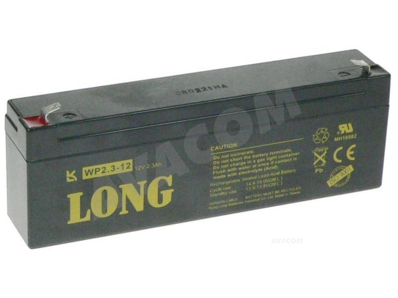 Long 12V 2,3Ah olověný akumulátor F1