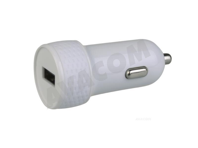 Nabíječka do auta AVACOM NACL-1XWW-10A s výstupem USB 5V/1A, bílá barva