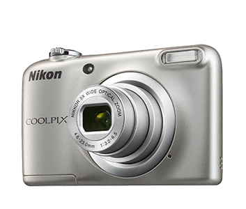Nikon Coolpix A10 stříbrný, 16,1M, 5xOZ, HD Video