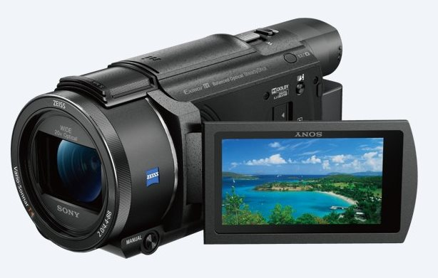 Sony UHD 4K (FHD) videokamera FDR-AX53, WiFi/NFC, B.O.S.S