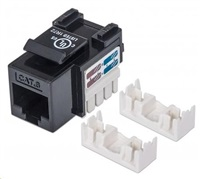 Intellinet Cat6 Keystone Jack, UTP, Black, Punch-down