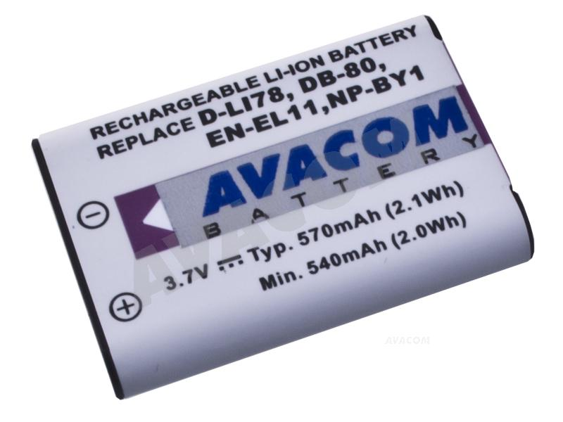 AVACOM Nikon EN-EL11, Olympus Li-60B, Pentax D-LI78, SONY NP-BY1 Li-ion 3.7V 570mAh 2.5Wh verze 2011