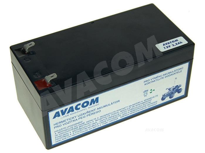 AVACOM Náhradní baterie (olověný akumulátor) 12V 3,2Ah do vozítka Peg Pérego F1