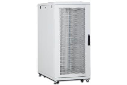 DIGITUS 26U server cabinet, 1260x600x1000 mm, color grey RAL 7035 perforated door
