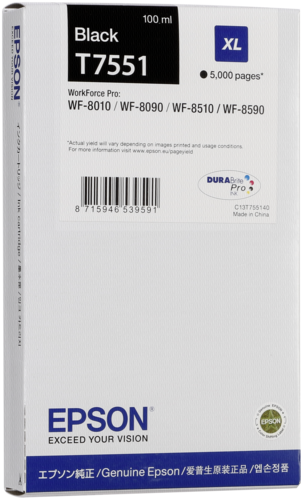 Epson cartridge XL cerna T 755 T 7551