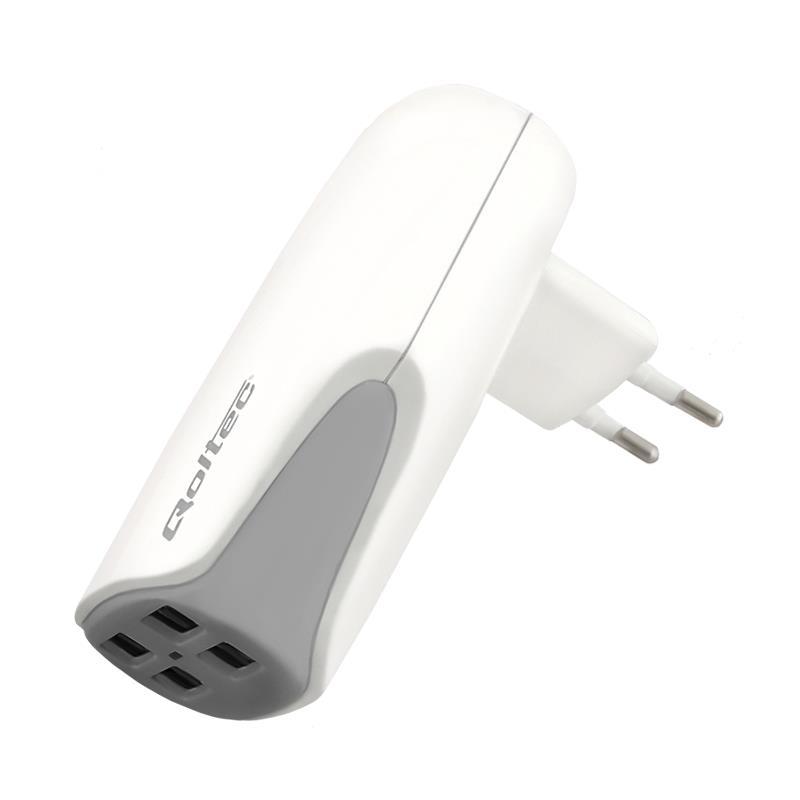 Qoltec Nabíječka pro tablet/smartphone do sítě 42W | 5V | 4xUSB | 2.1A
