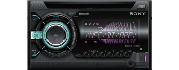 SONY WX-900BT - 2 DIN Bluetooth autorádio s CD/MP3 přehrávačem, výkon 4x55W, vstup USB a AUX
