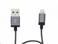 VERBATIM kabel Lightning Charge & Sync Cable - 30cm GREY (iPod, iPhone, iPad)