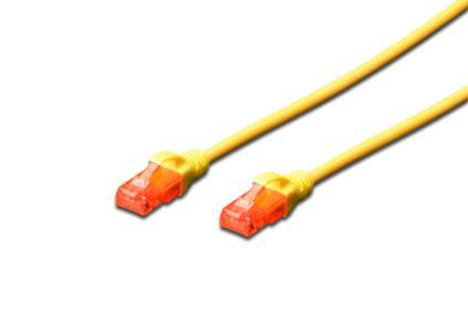 Digitus Ecoline Patch Cable, UTP, CAT 6e, AWG 26/7, žlutý 0,5m, 1ks