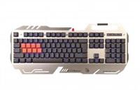 A4tech Bloody B418 podsvícená herní klávesnice, USB, CZ, stříbrná barva