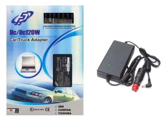 FSP/Fortron Auto/Truck napájecí adaptér k notebooku, 120W, 19V
