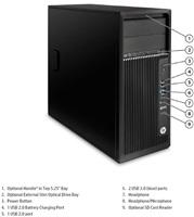 HP Z240 TWR E3-1240v5/16GB/256SSD/DVD/NV/7+10P