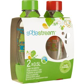 Lahev Sodastream 1/2 l, červená/zelená