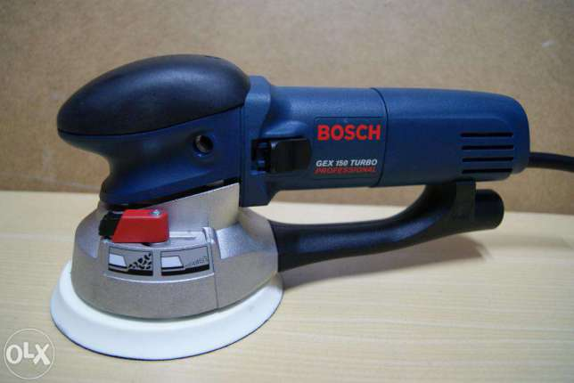 Bruska excentrická Bosch GEX 150 turbo, L-Boxx