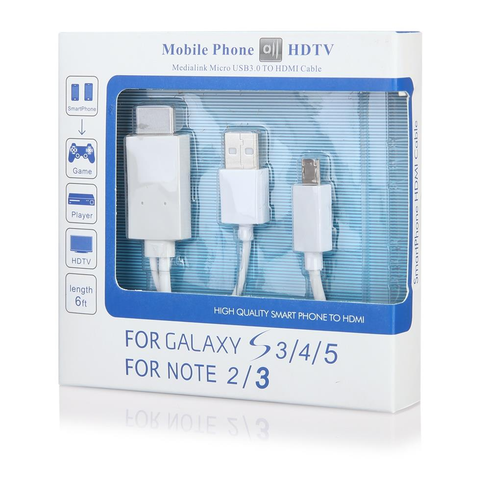 CABLE HDMI MHL microUSB 2m with charging (11pin )