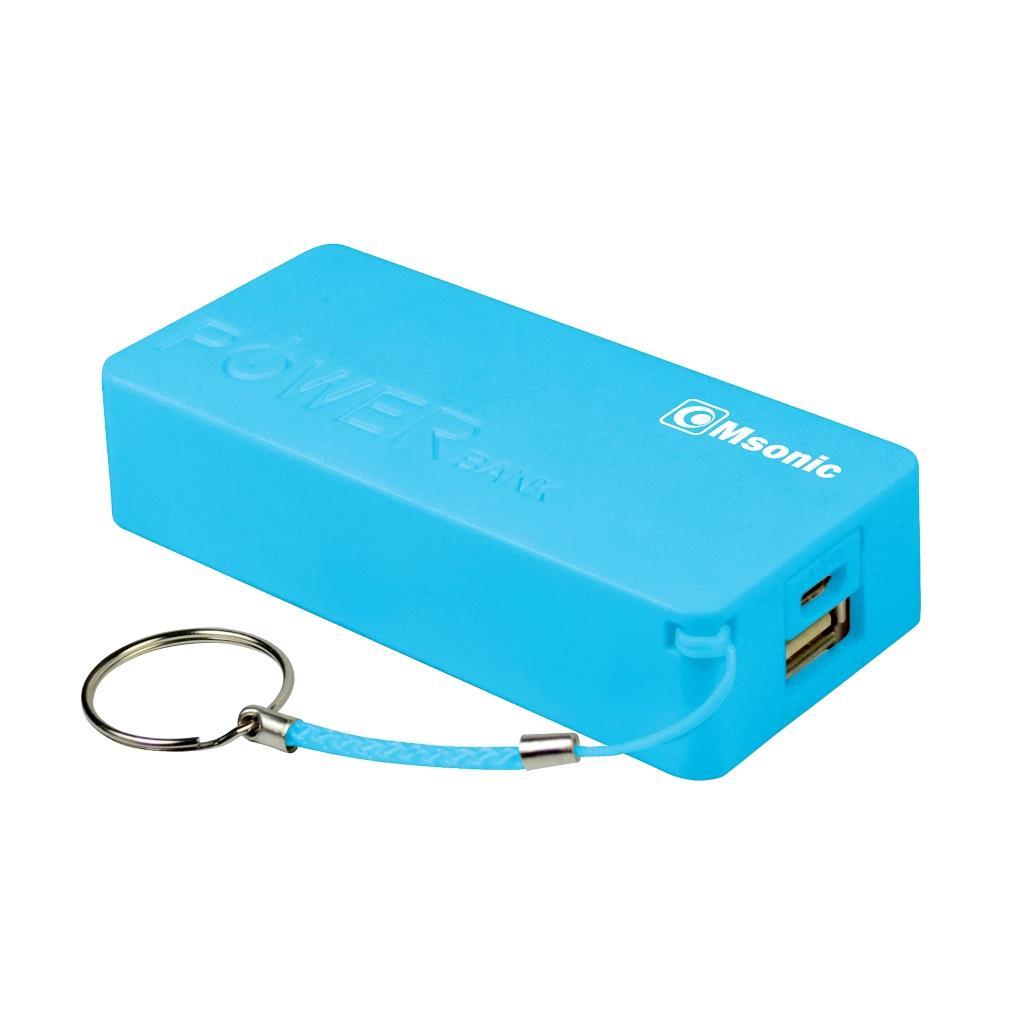 MSONIC Power Bank 5000mAh, Li-Ion MY2580B modrý