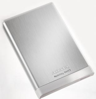 ADATA NH13 1TB 2.5'' externí HDD, USB 3.0, 5400RPM, 107MB/s, hliníkový, stříbrný