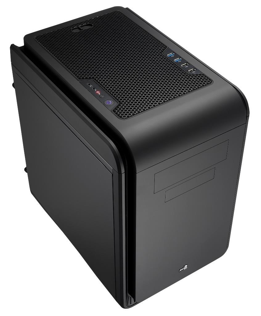 PC skříň Aerocool Micro ATX DS CUBE BLACK, USB 3.0, bez zdroje